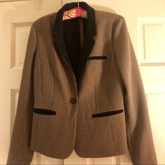 Halogen Jackets & Blazers - Halogen Brown Plaid and Navy Blazer size Medium
